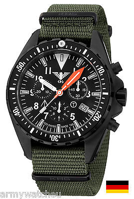 KHS Tactical Watches Operation Timer H3 Chronograph Military Strap KHS.MTAOTC.NO