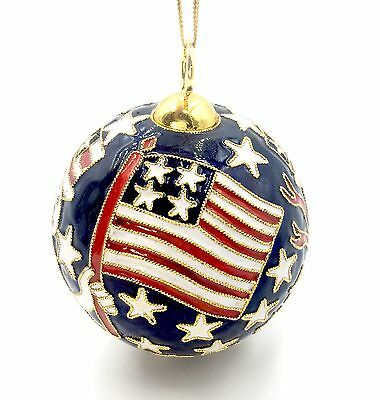 Cloisonne Filigree Ornament - Patriotic Ball