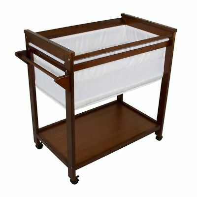 BebeCare Baby Bassinet W Mattress Pad Walnut #`096328-133