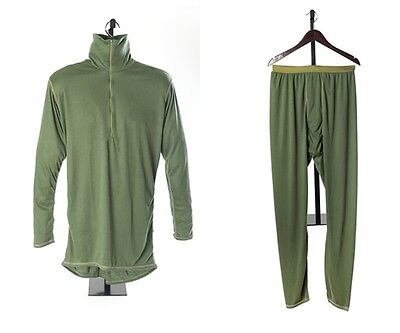 SPEAR  X-LARGE LEP Layer 2 Midweight Set Power Dry Polartec Shirt/Drawers Green