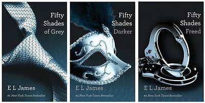 3 Audiobooks - Fifty Shades of Grey Trilogy Series by E.L. James Mp3 Unabridged