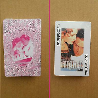 New in Shrink-Wrap One Deck of TITANIC Movie Collectible Playing Cards (pink)