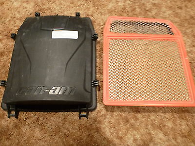 Air Filter & Airbox Cover Lid BRP CanAm Maverick 707800326 707800327 Box Intake
