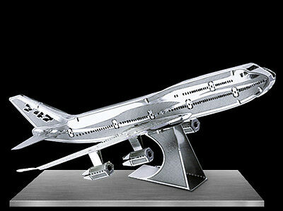 Fascinations Metal Earth 3D Laser Cut Model - Boeing 747 Jet Airplane