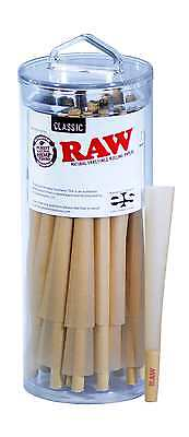 RAW Classic King Size Pure Hemp Pre-Rolled Cones With Filter (50 Pack)