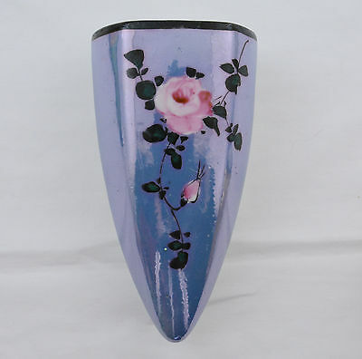 "Wall Pocket Luster Floral Design Made In Japan  (5 1/2"" Long)"
