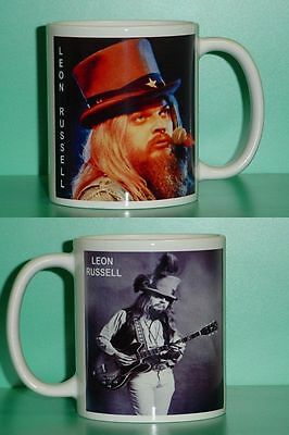 LEON RUSSELL - with 2 Photos - Designer Collectible GIFT Mug