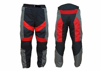 Kids motorcycle motorbike textile motocross trousers children clothing CE armour
