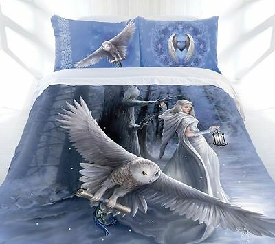 Anne Stokes Bedding Midnight Messenger King Quilt Cover  Free Canvas Print