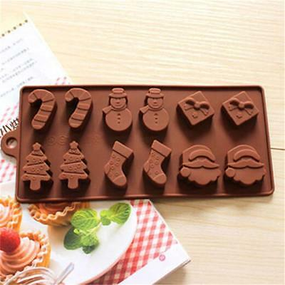 Silicone Baking Christmas Snowman Cake Cookie Mould Chocolate Mold Ice Cube Tray