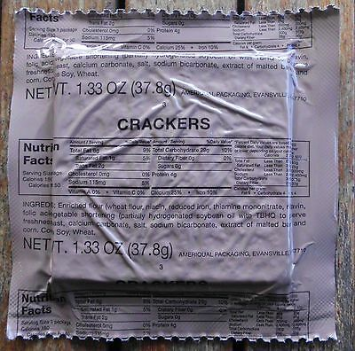 CRACKERS   From US ARMY MRE (RATION PACK)  Emergency / Survival Food