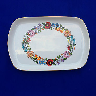 KALOSCA Hungary Handpainted Candy Dish / Tray - Gold Rimmed (643)