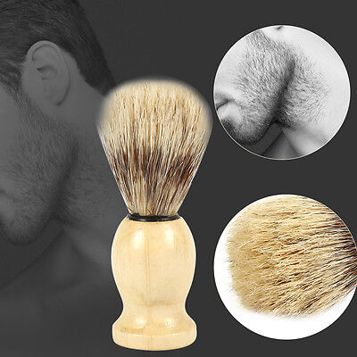 Professional Men's Best Facial Cleaning Brush Wooden Hair Handle Barber