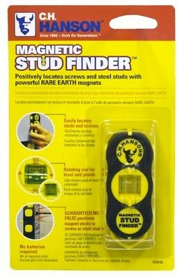 CH Hanson Magnetic Stud Finder Easy Find Locator Household Compact Way Bubble