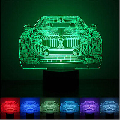 3D illusion BMW Car Gift LED night 7Color Change Touch Table Desk Lamp Light