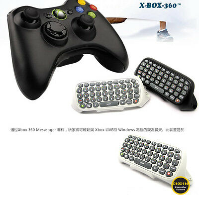 1x Wireless Controller Text Messenger Game Keyboard Keypad Chat Pad For XBOX 360