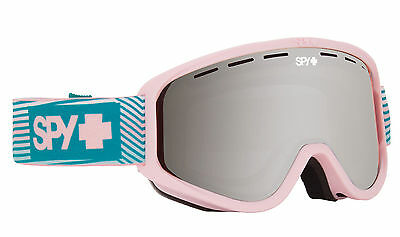 Spy Woot 2017 Goggles Stacked Pink Frame Silver Mirror Lens Snow Ski Snowboard