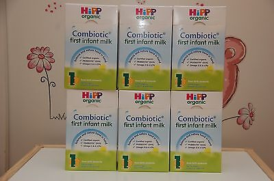 6-BOXES-HiPP-Organic-Combiotic-First-Infant-Milk-Stage-1-UK-Version-800g 10/2019