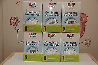 6-BOXES-HiPP-Organic-Combiotic-First-Infant-Milk-Stage-1-UK-Version-800g 11/2019