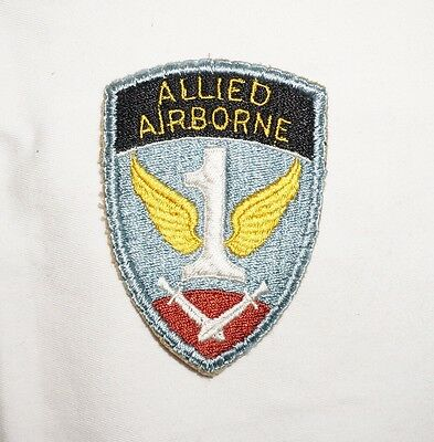 1st Allied Airborne Army PURPLE BACK Patch WWII US Army P2129