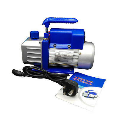 UK Stock! 1/3HP 3.5CFM@50HZ 1 Stage Vacuum Pump Low Noise Air Conditioning 220V