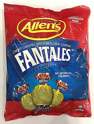 905927 1kg BULK BAG OF ALLEN'S FANTALES - CHEWY CARAMEL WITH A CHOC COATING!!