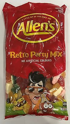 905918 1kg BULK BAG OF ALLEN'S RETRO PARTY MIX - LOLLIES - AUSTRALIAN MADE