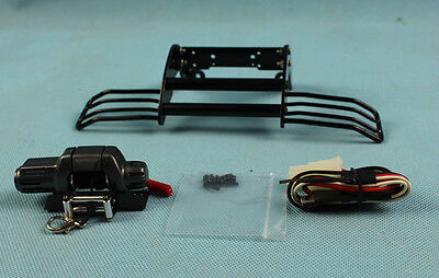 Alloy Front bumper with winch For Tamiya CC01 pajero