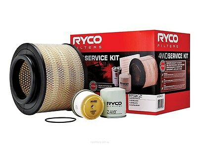 RYCO Oil Air Fuel Filter Service Kits HILUX KUN16 KUN26 1KDFTV 3.0L DIESEL