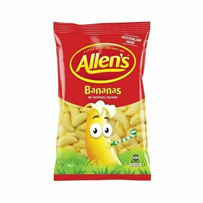 905925 1kg BULK BAG OF LOLLIES - ALLEN'S FAMOUS BANANAS - AUSTRALIAN MADE!!