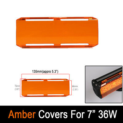 """5.3""""Inch Snap on Amber Protective Cover For 7"""" inch 36W Led Work Light Bar Truck"""