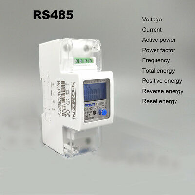 5(65)A 220V 230V 50Hz 60Hz voltage current energy meter with RS485 MODBUS-RUT