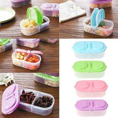 2in1 Small Household Plastic Airtight Food Storage Box Container Holder Case