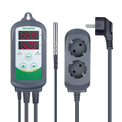 EU PLUG Inkbird ITC-308 Temperature Controller 220V Digital Thermostat 2 Relays