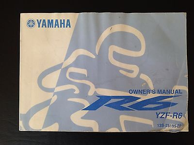 Yamaha R6 Owners Manual Genuine CHEAPEST ON EBAY r1