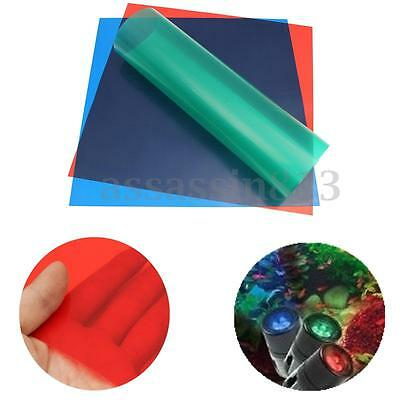 3Pcs 60X60CM Primary Color Lighting Filter Video Gel Sheets Prime Red Blue Green