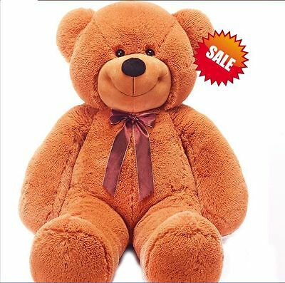 1.2m Tall Giant Teddy Bear Stuffed Plush Doll Xmas Birthday Gift Dark Brown