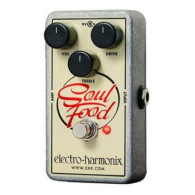 Electro Harmonix Soul Food Transparent Overdrive Effects Pedal for Guitar