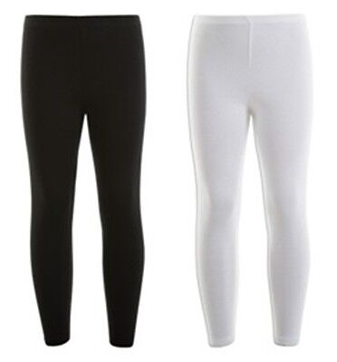 Minx Black White Long Leggings Age 2 3 4 5 6 7 8 9 10 11 12 13 Years (A3)