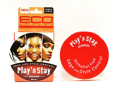 New Eco Styler Professional Edge And Style Control Play' N Stay Seaweed 90ml