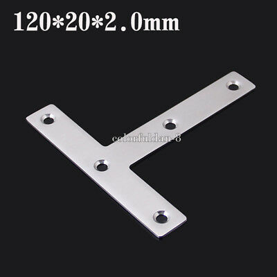 20X 120*20mm Stainless steel angle conner bracket T shape furniture hardware