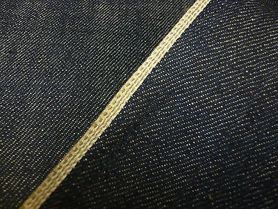 5mts SUPERIOR QUALITY 100%COTTON JAPANESE-KAIHARA SELVEDGE DENIM INDIGO 84cms