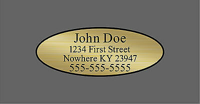 Custom Gold Oval Shaft Labels For Back of Shaft With Your Information
