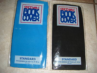 """Book Sox Stretchable Fabric Book Cover Standard lot of 2 8"""" X 10"""" school new"""