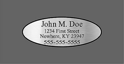 Custom Silver Oval Shaft Labels For Back of Shaft With Your Information