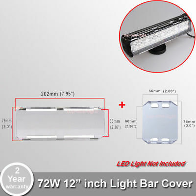"""12"""" Inch 72W Clear LED LIGHT Bar LEN COVER FOR 54W OFFROAD SUV ATV WORK LIGHT"""