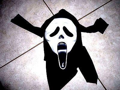 Ghost Face Hooded Mask Halloween Scream Costume Adult youth