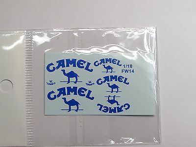 1/18 Camel Decal For Minichamps Williams FW14 FW14B Mansell Patrese