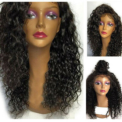 Women Africa Wave Curly Lace Wigs Kinky Glueless Lace Front Wig With Hair Black