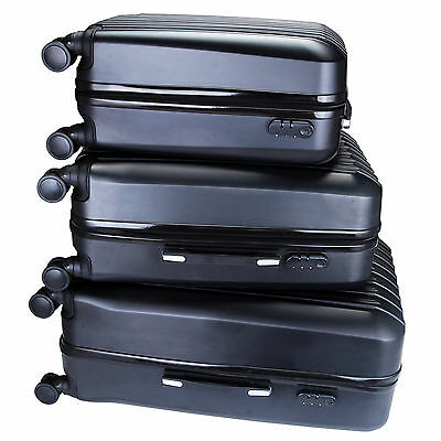 ABS 3Pcs Luggage Travel Set Bag Trolley Spinner Suitcase Expandable w/TSA Lock